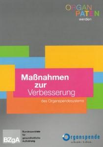 "Info-Flyer ""Maßnahmen zur Verbesserung des Organspendesystems"""