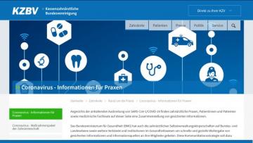 Coronavirus-Infos der KZBV
